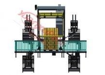 水平打包机与自动防护角组合,水平打包+自动防护角